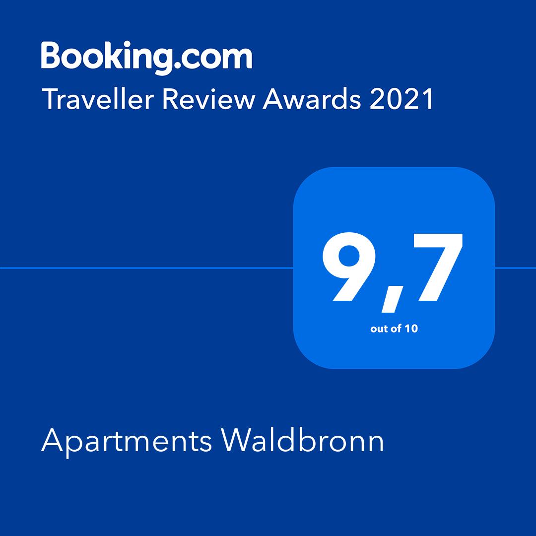 Booking.com Traveler Review Awards 2020 Apartments Waldbronn